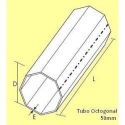 Tubo octonal para estores caixa interior comando fita ou guincho