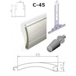 Estores aluminio termico com calhas