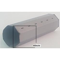 Tubo octognal 60 m/m