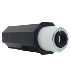 Topo octognal 40mm telescopico mola aço para estores compactos