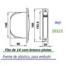 Dimensões enrolador compacto frente reduzida