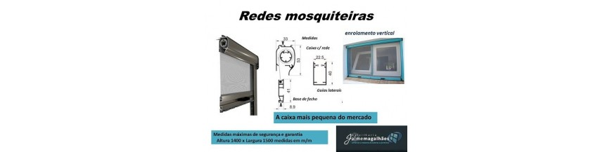 redes mosquiteiras