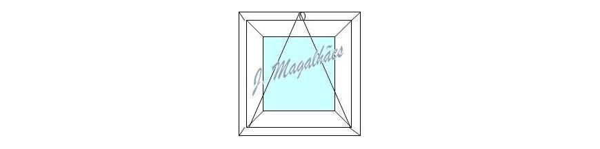janelas alumínio basculantes para o mais diversos fins como em  w.c.